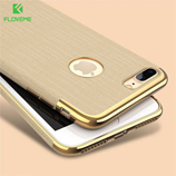 FLOVEME Golden Luxury Plating Soft Cases For iPhone